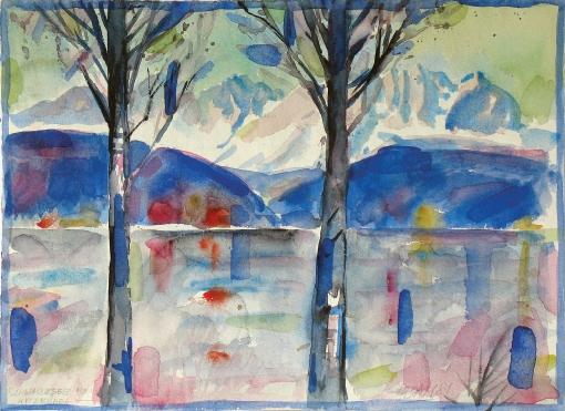 1352, Schwarzsee, 1981, Aquarell, 39 x 28,5 cm