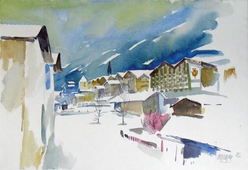 1554, Kitzbühel, 1986, Aquarell, 47 x 33 cm