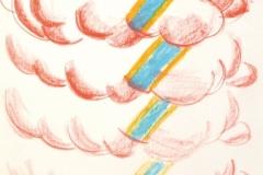 15320, Kosmos, Wachskreiden/Papier, 1971, 60x44 cm