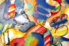 0205, Galaktische Konzentration, 1970, 96x100 cm, Acryl / Hartfaserplatte