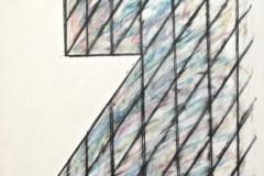 15233, die letzen Spiegelungen, recht, Wachskreiden/Papier, 1980, 60x44 cm