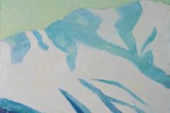 0026, Schneegebirge, 65x50 cm, Acryl / Hartfaserplatte
