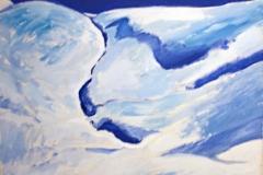 0056, Schneelandschaft, 50x65 cm, Acryl / Leinwand