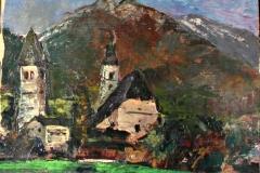0661, Kitzbühel - hinten Portrait, 49x40 cm, Öl / Karton