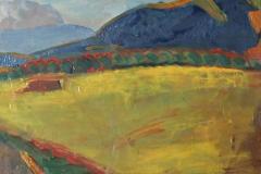 0678, Waldrand, 41x33 cm, Öl / Karton