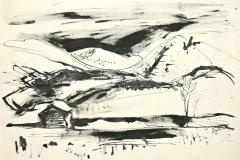 7483, Almhütte, Tusche / Papier, 28,5x39,5 cm