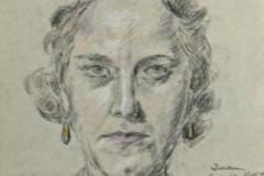 7278, Portrait, 06.01.46, Buntstift/Bleistift/Papier, 29,5x21 cm