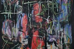 0494, Übermalt 77, 1977, 82x100 cm, Acryl / Leinwand