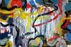 0511, Verwirrungen, 1970, 125x105 cm, Öl / alte Leinwand