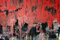 0518, Abendrot, 1977, 100,5x130 cm, Acryl / Hartfaserplatte