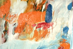 0535, Orange zentral, 1967, 85x100 cm, Öl / Leinwand