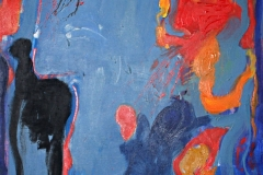 0539, Patronanz blau, 1968, 85x110 cm, Öl / Leinwand