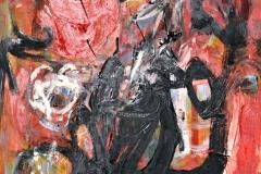 0583, Wildkatze, 1966, 50x69,5 cm, Öl / Hartfaserplatte