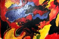 0611, Patronanz, 1968, 140x170 cm, Öl / Leinwand