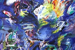 0614, Sturm in der Nordsee, 1995, 50x60 cm, Acryl / Leinwand