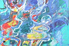0726, In Gedanken an Asker Jorn, 1995, 50x40 cm, Acryl / Leinwand