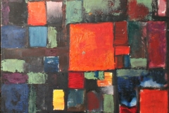 0735, Rechtecke, 1968, 50x50 cm, Acryl / Spannplatte