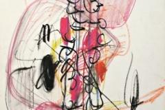 15449, Modern, Wachskreiden/Papier, 1969, 62,5x44 cm