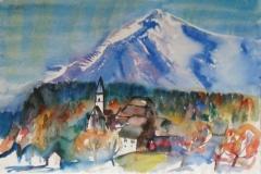 640, Pürgg, Salzkammergut, Aquarell, 57 x 38,5 cm