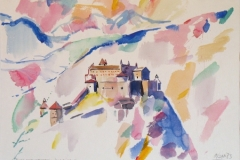 549, Burg Hohenwerfen, 1983, Aquarell, 57 x 41 cm