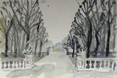 580, Mirabellgarten, Aquarell, 57 x 39 cm