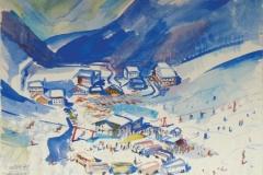 723, Zauchensee, 1979, Aquarell, 57 x 39,5 cm