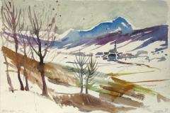 749, Thalgau, 1981, Aquarell, 57 x 38,5 cm