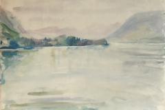 822, Zell am See, um 1956, Aquarell, 63 x 43,7 cm