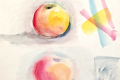 10065, Apfelstudie, 1969, Aquarell / Papier, 38x28 cm