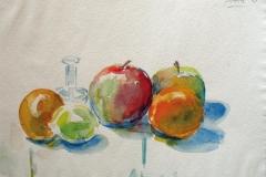 955, Äpfel, 1986, Aquarell, 39 x 28,5 cm