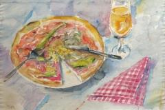 959, Pizza, Aquarell, 56,5 x 39 cm