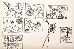 10051, kleine Landschaften, Filzstift/Papier, 21x29,5 cm