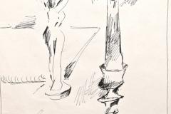 12005, bei Margit, Tusche/Papier, 1980, 30x20 cm