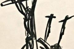 7623, Kreuze, Tusche/Papier, 15,5x12 cm