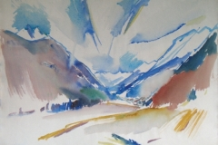 1009, Im Stubaital, 1979, Aquarell, 78 x 57 cm