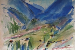 1016, Stubaital, 1979, Aquarell, 78 x 57 cm