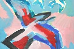 13040, Vogel, Aquarell/Papier, 30x33 cm