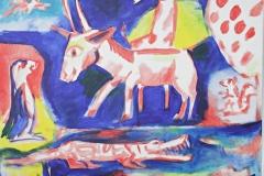 0240, Im Zoo, 80x65 cm, Acryl / Leinwand