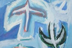 0250, Gedanken an Lofoten, 1995, 100x120 cm, Acryl / Karton