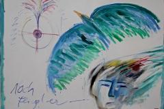 0254, Noch fliegt er, 1983, 180x140,5 cm, Acryl / Leinwand