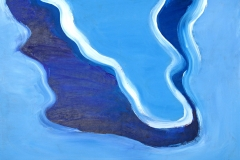 0281, Wasser dunkelblau-weiß, 1992, 65x50 cm, Acryl / Hartfaserplatte