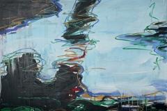 0291, Wasser Paros, 1986, 100x80 cm, Acryl / Leinwand