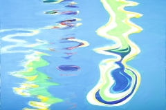 0294, Wasser Spiegelung, 1990, 100x80 cm, Acryl / Leinwand
