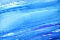 0303, Ruhiges Wasser, 1992, 80x100 cm, Acryl / Leinwand