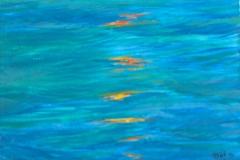 0309, Wasser, 1993, 30x38 cm, Acryl / Leinwand