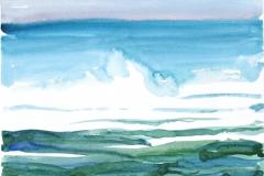 10500, Wasser, 1992, Aquarell/Papier, 30x40 cm