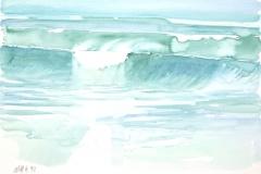 10526, Wasser, 1992, Aquarell/Papier, 38x55,5 cm