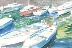 10592, Hafen, Aquarell/Papier, 31x48 cm